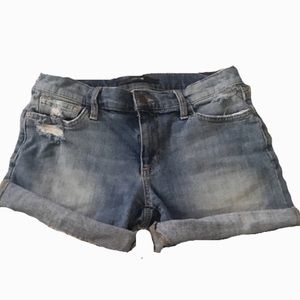 Joes Mid Rise Distressed Denim Shorts